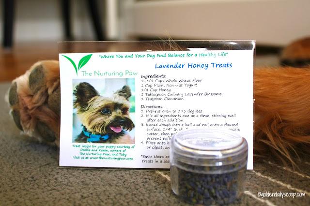 the nurturing paw dog treat recipe with lavender