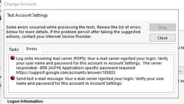 Cách khắc phục lỗi email trong ứng dụng outlook với Gmail - 78754