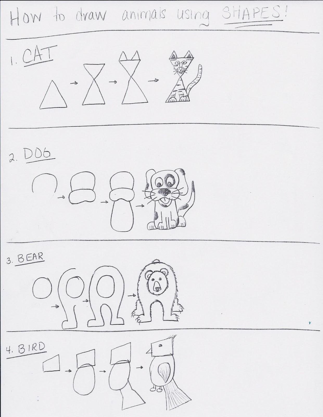 Art Room 104: 1st Grade: Shape Animals With Depth