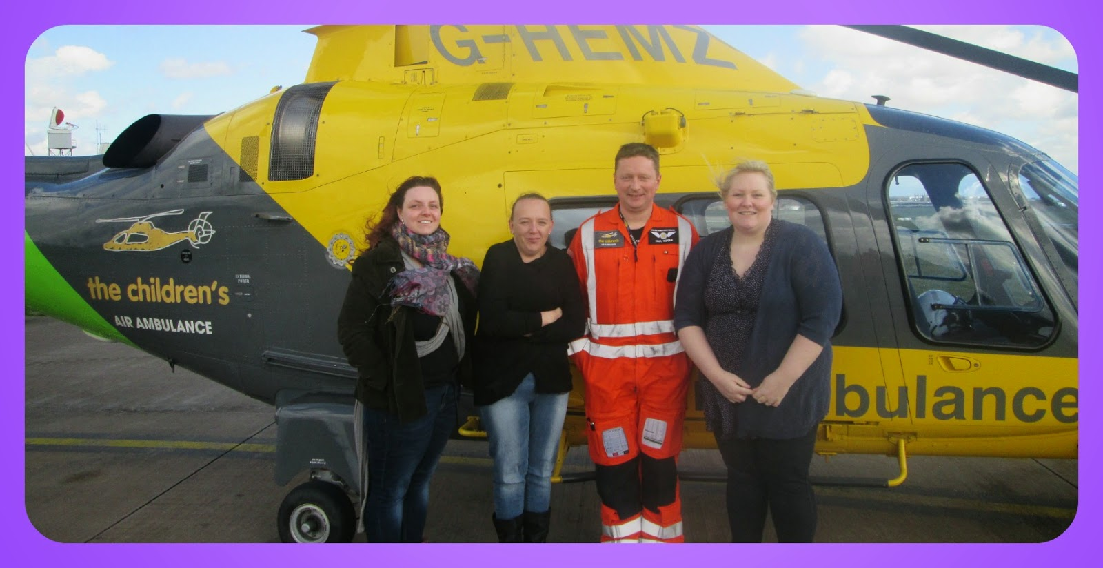 Supporting the children's air Ambulance helicopter flight and raising awareness