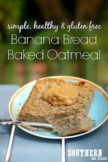 Healthy Banana Bread Baked Oatmeal Recipe Gluten Free