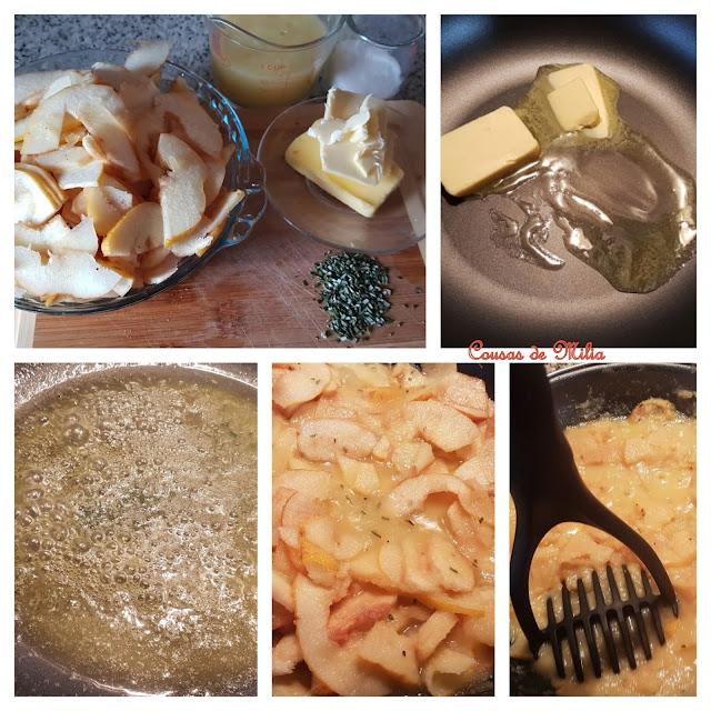 Arroz con leche y salsa de membrillo