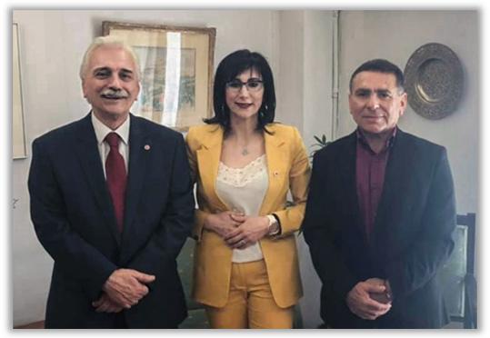 Ο Πρόεδρος του Ελληνικού Ερυθρού Σταυρού συναντήθηκε με την νέα Πρόεδρο του Ε.Ε.Σ. Άργους