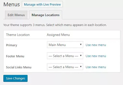 Adding menu and navigate your pages to header