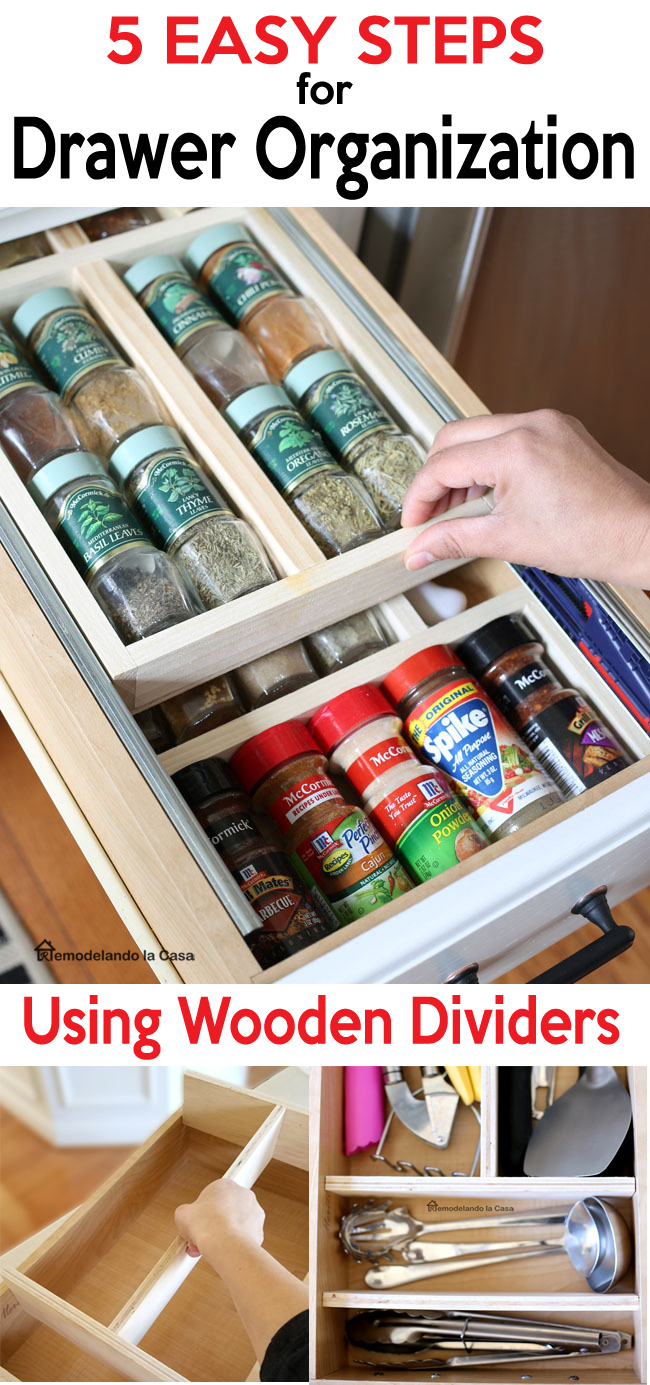 building wooden divider to organize stuff inside a drawer - Kitchen drawer, bathroom drawer