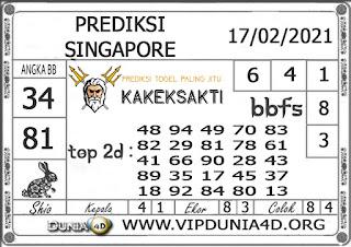 Prediksi Togel SINGAPORE DUNIA4D 17 FEBRUARI 2021
