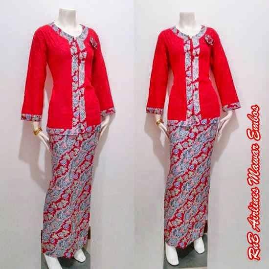 Model Baju Batik Setelan Wanita Terbaru