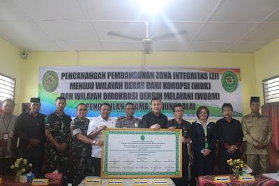 Kasubbag TU Hadiri Deklarasi Pencanangan Pembangunan Zona Integritas Pengadilan Agama Kota Tanjungbalai