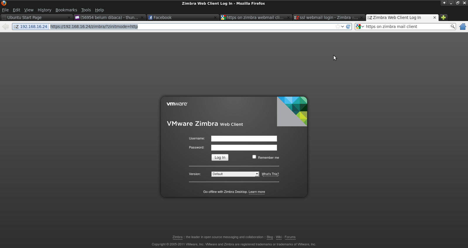 Zimbra Sign In