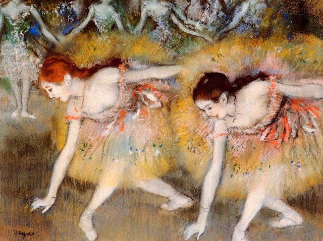 Эдгар Дега - Склонившиеся танцовщицы (1885)
