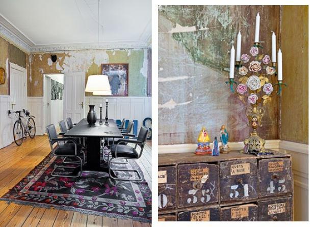 Lille lykke een mix van tijd en stijl for Klassiek en modern interieur combineren