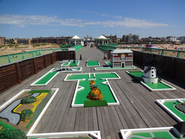 Crazy Golf on St Annes Pier in St Annes on the Sea