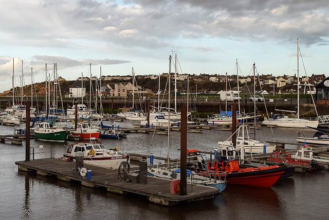 Photo of the inshore rescue boat moored in the marina