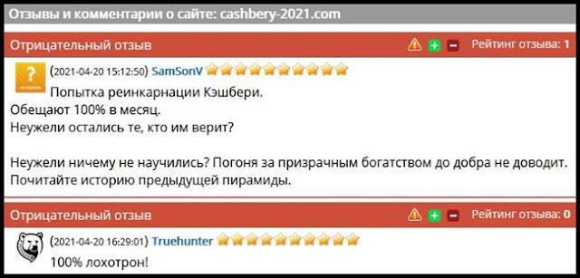 cashbery-2021.com отзывы о сайте