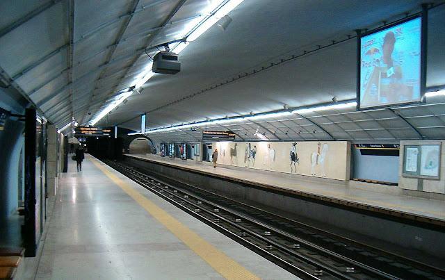 Campo Pequeno Station Lisbon Metro, Portugal,