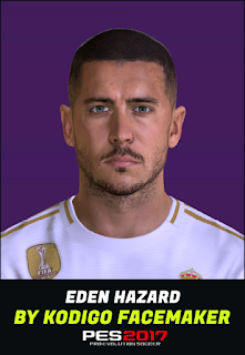 PES 2017 Faces Eden Hazard by Kodigo