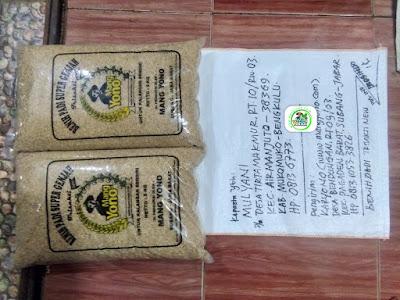Benih padi yang dibeli   MULYANI Mukomuko, Bengkulu.  (Sebelum packing karung).