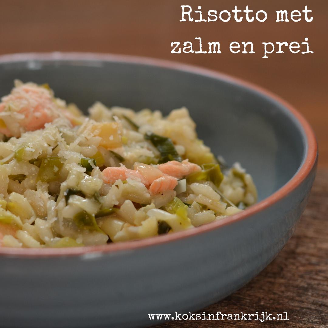 Heerlijke romige risotto met prei en zalm