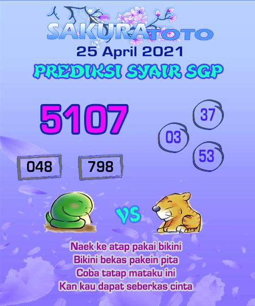 Syair SGP Minggu 25 April 2021 -