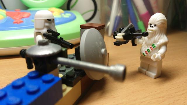 Чубакка и штурмовик, фигурка лего, купить, Звездные войны