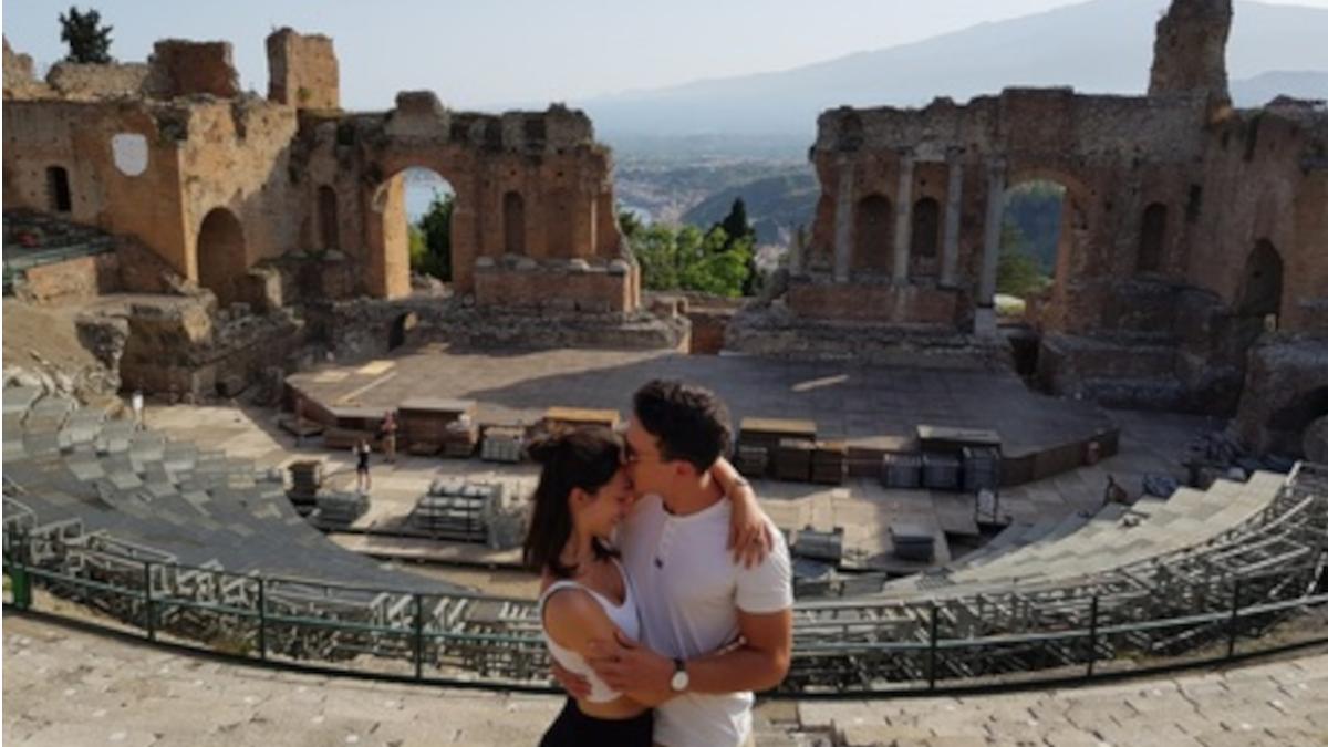 proposta di matrimonio proposta nozze Teatro Antico Taormina