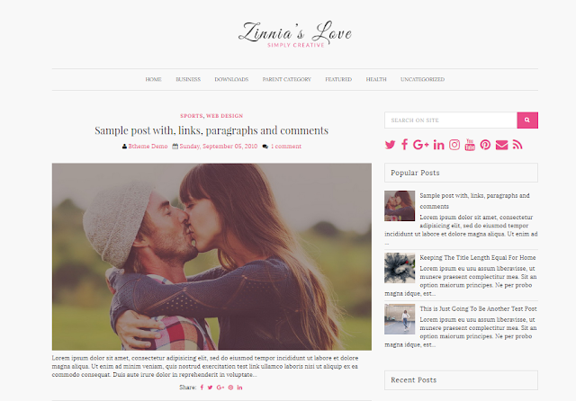Zinnias Lite  Blogger  Theme