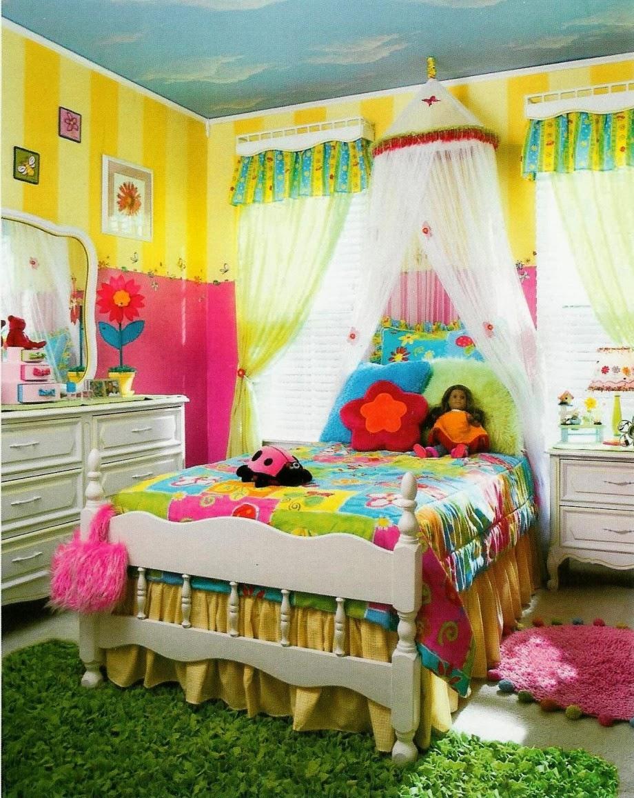 dormitorio colorido para niña