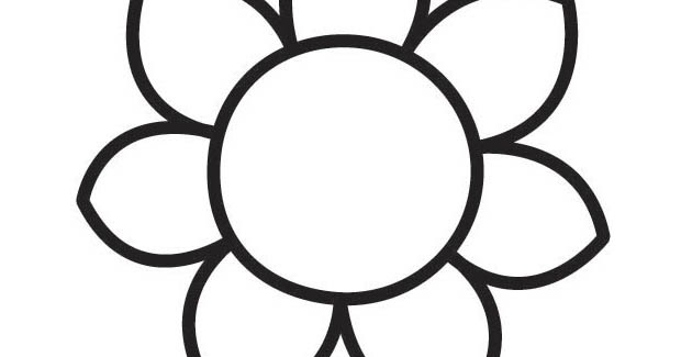 Large Printable Flower Pages Coloring Pages