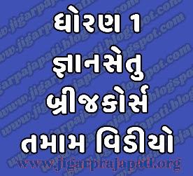 Std-1: Bridge Course, Class Readiness (Gyansetu) Program Live Videos on DD Girnar Youtube By Gujarat E-Class SSA, Samagra Shiksha