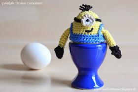 Gehäkelter Minion Eierwärmer, mit kostenloser Anleitung