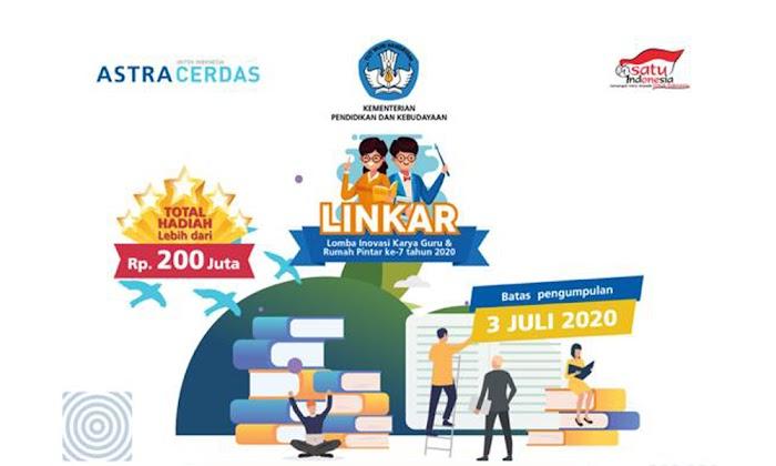 Kabar Gembira Bagi Guru, Waktu Pendaftaran Lomba Inovasi Karya Guru dan Rumah Pintar Ke-7 Tahun 2020 DIPERPANJANG!!!