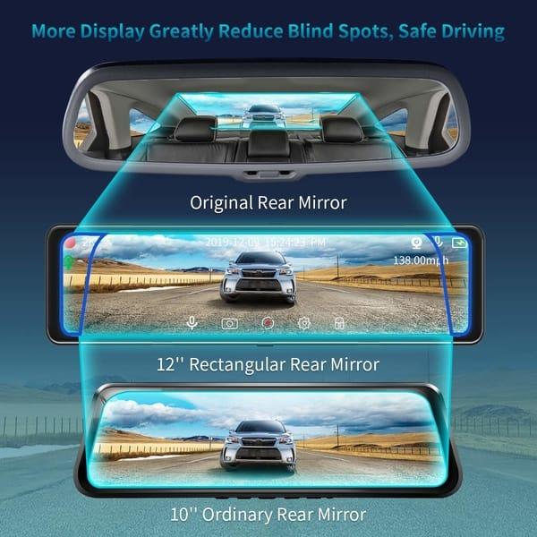 PVG 2K IPS Mirror Dash Cam Car