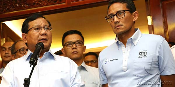 Gerpol Prabowo-Sandi Usai Turbulensi Sarumpaet