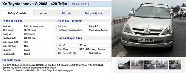 Bạn có thể nào tin xe Toyota Innova có giá 350 triệu ảnh 5