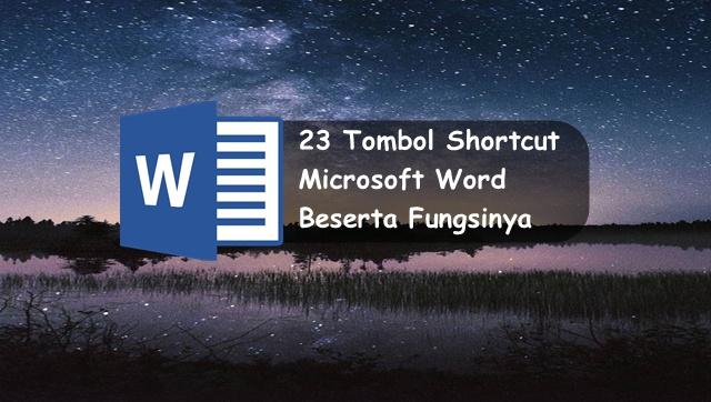 Tombol Shortcut Microsoft Word Beserta Fungsinya