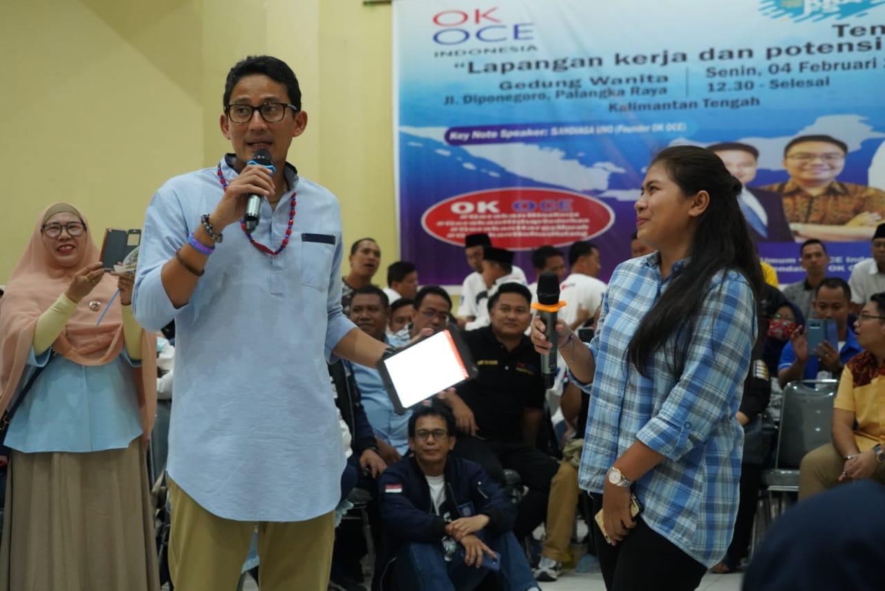 Dialog Dengan Milenial, Sandiaga  Uno Dikeluhkan Soal Tenaga Kerja Asing