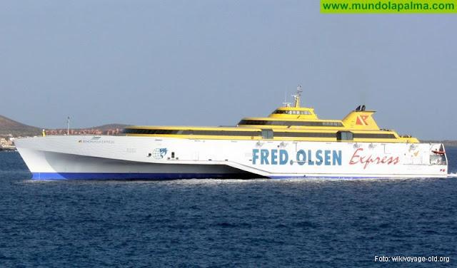 Fred. Olsen Express aumentará la frecuencia con La Palma y contempla un trayecto directo con Los Cristianos