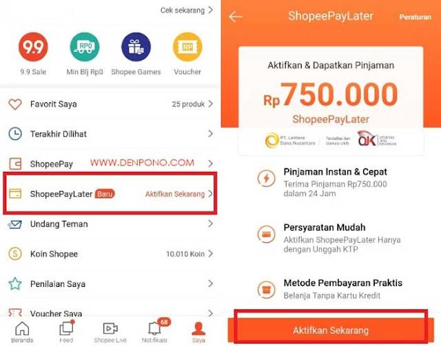 Cara Mendapatkan Shopee Paylater Update 2020 Denpono Blog