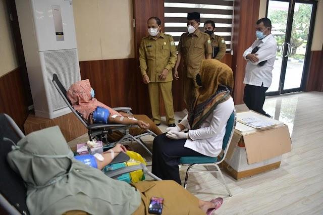 Dimulai,  Aksi Donor Darah Rutin Pemerintah Aceh Tahun 2021