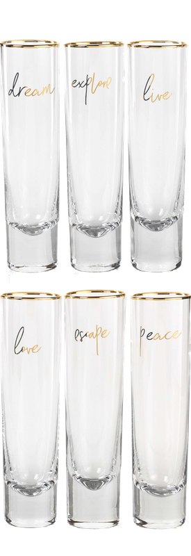 ZODAX Dream Set of 6 Stemless Champagne Flutes