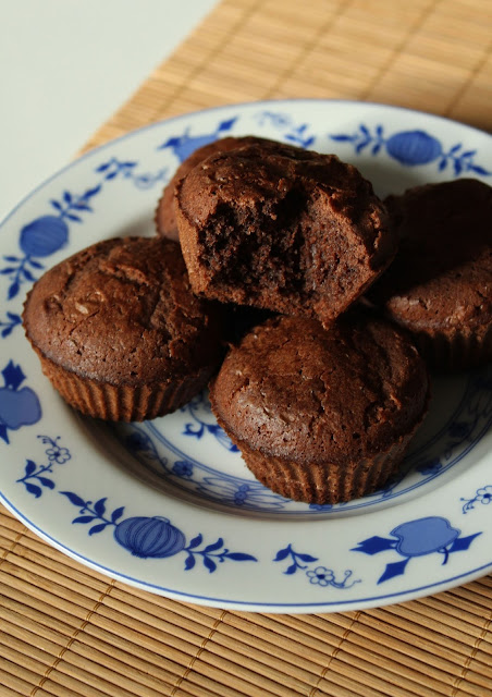 Owsiane babeczki kakaowe