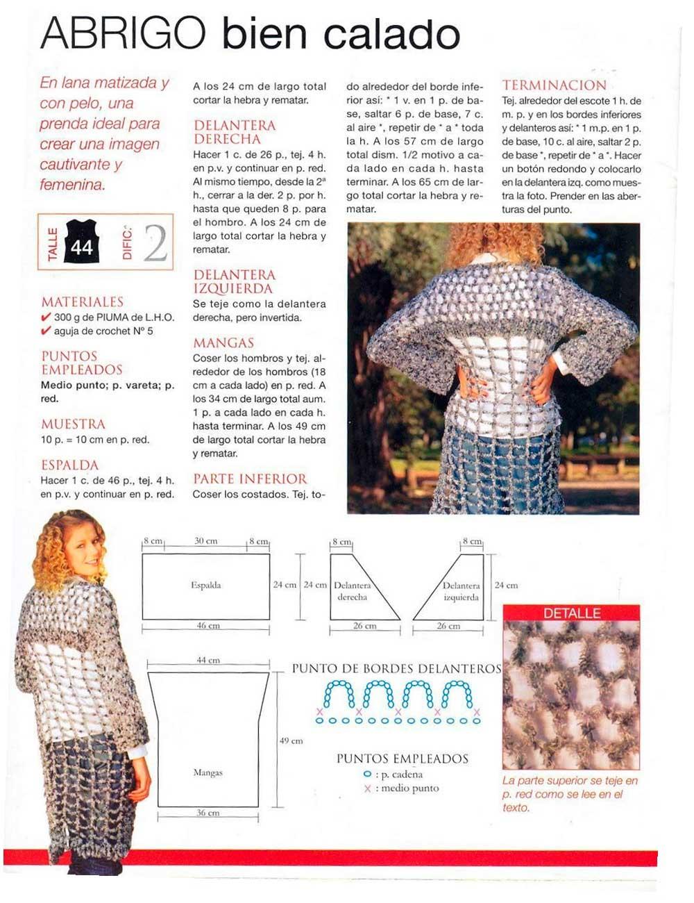 abrigo calado de ganchillo, prendas caladas, crochet, tutorial español