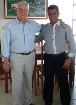Matemático Valdivino Sousa em visita ao Frei Venildo Trevisan