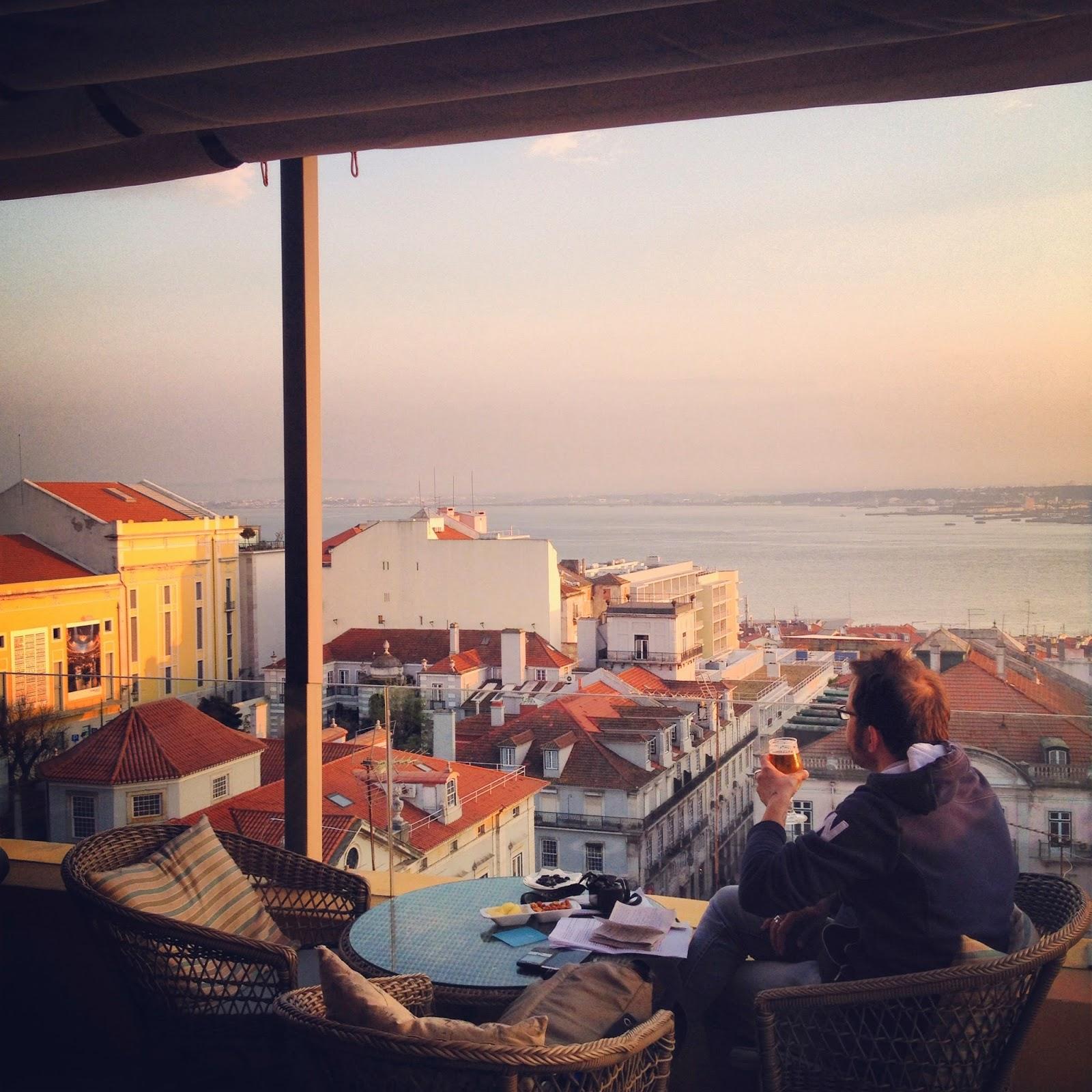 Eat Drink Lisbon Terrace Ba Bairro Alto Hotel