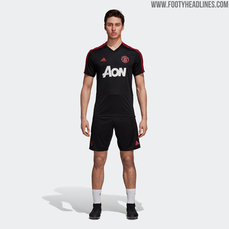 Pink + Black Adidas Manchester United 18-19 Training Kits Released ... 63f482ad9
