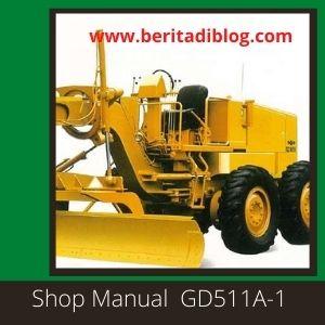 GD511A-1 GD511R-1 GD510R-1 Shop Manual Grader Komatsu