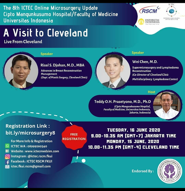 The 8th ICTEC Online Microsurgery Update  A Visit to Cleveland  Live From Cleveland  Tuesday, 16 June 2020