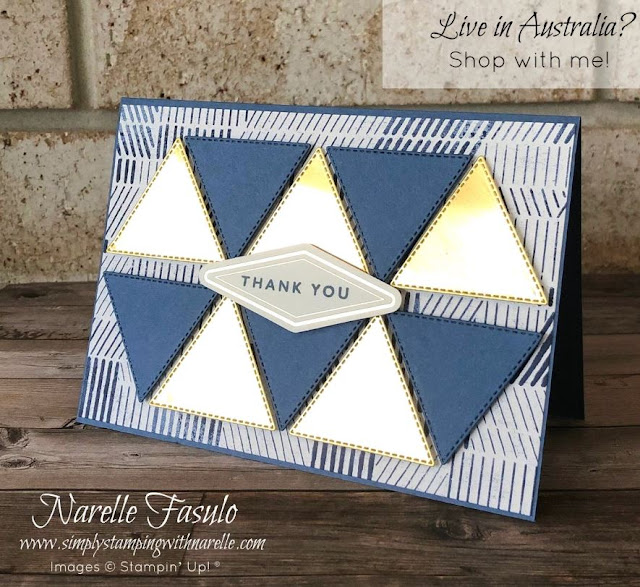 Stitched Triangle Dies and Boho Indigo