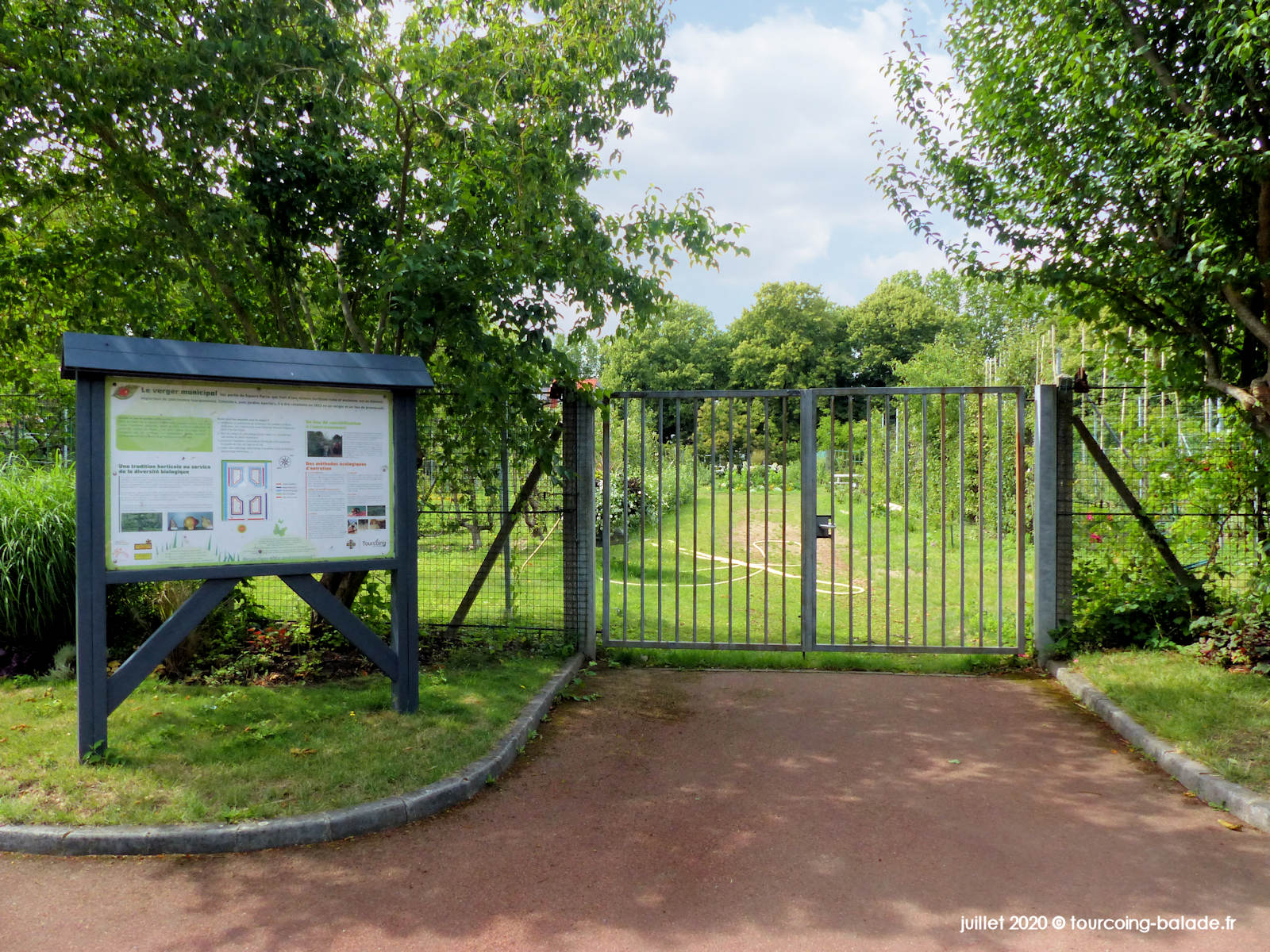 Entrée du Verger Municipal Parsy, Tourcoing 2020