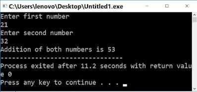 cin c++ output